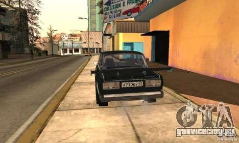 ВАЗ 2107 Turbo для GTA San Andreas вид слева