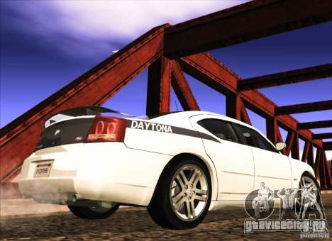 Dodge Charger R/T Daytona для GTA San Andreas вид сзади слева