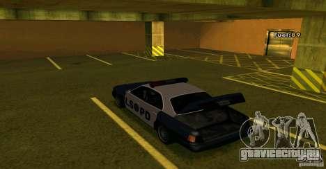 Merit Police Version 2 для GTA San Andreas вид сзади