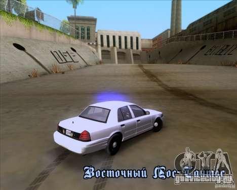 Ford Crown Victoria 2009 Detective для GTA San Andreas вид сверху
