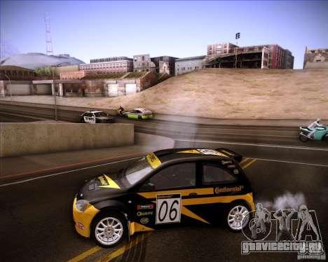 Opel Corsa Super 1600 для GTA San Andreas вид изнутри