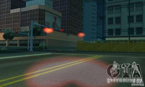 Красный цвет фар для GTA San Andreas шестой скриншот