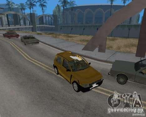 Fiat Mille Fire 1.0 2006 для GTA San Andreas вид изнутри