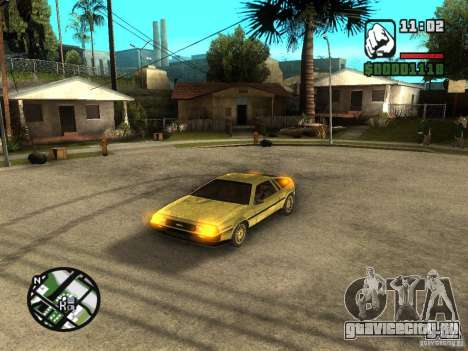 Golden DeLorean DMC-12 для GTA San Andreas вид слева