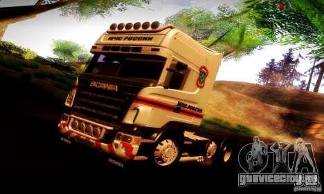 Scania R620 МЧС России для GTA San Andreas салон