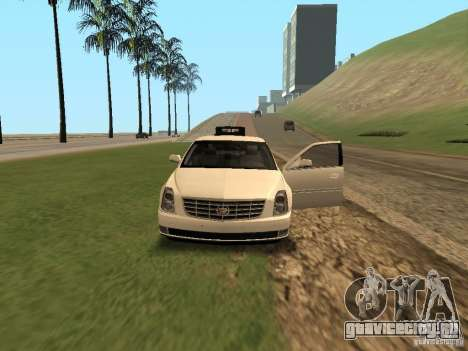 Cadillac DTS 2010 для GTA San Andreas вид изнутри