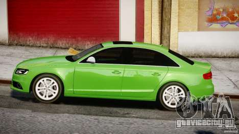 Audi S4 2010 v1.0 для GTA 4 вид слева