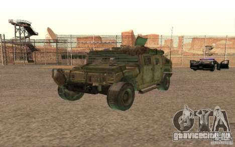 Hummer Spec Ops The Line для GTA San Andreas вид изнутри