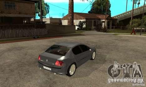 Peugeot 407 для GTA San Andreas вид справа