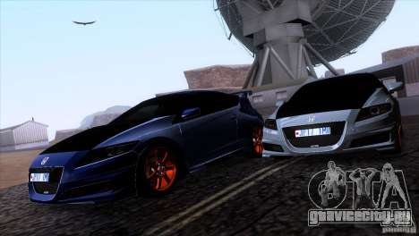 Honda CR-Z Mugen 2011 V1.0 для GTA San Andreas вид сбоку