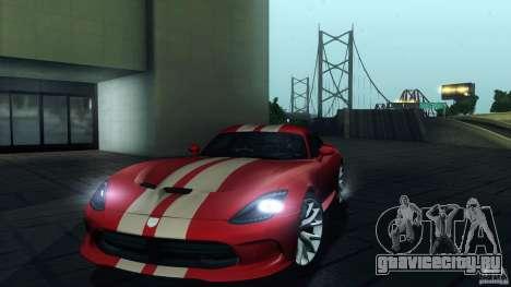 Dodge SRT Viper GTS 2012 V1.0 для GTA San Andreas двигатель