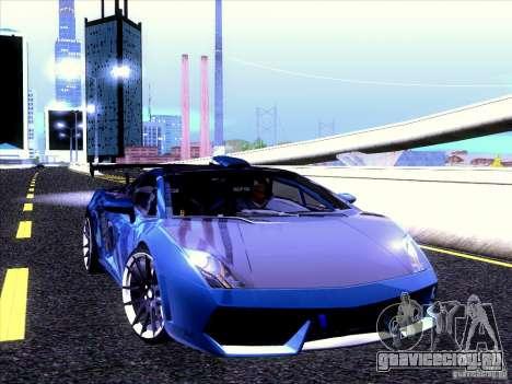 Lamborghini Gallardo Racing Street для GTA San Andreas вид изнутри