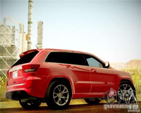 Jeep Grand Cherokee SRT-8 2012 для GTA San Andreas вид сзади