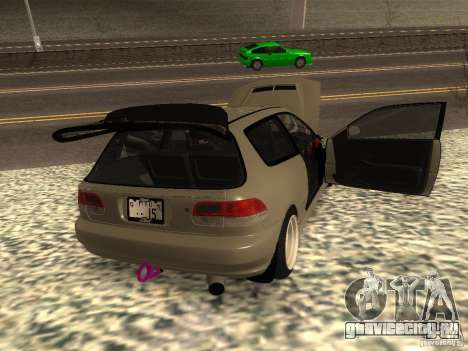 Honda Civic EG6 JDM для GTA San Andreas вид сзади слева