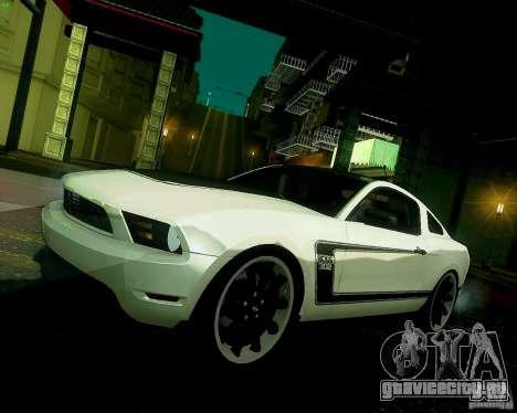 Ford Mustang Boss 302 2011 для GTA San Andreas вид изнутри