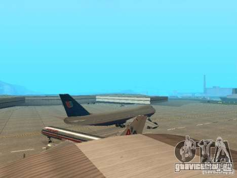 Boeing 747-100 United Airlines для GTA San Andreas вид справа