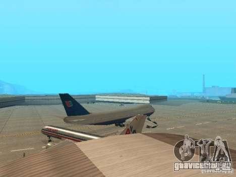 Boeing 747-100 United Airlines для GTA San Andreas вид справа