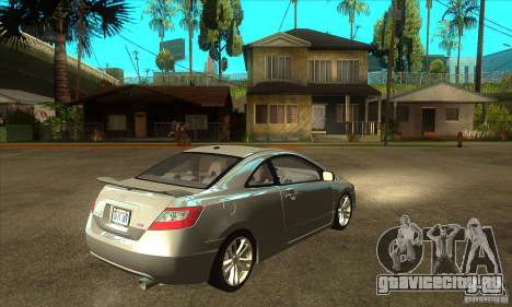 Honda Civic Si - Stock для GTA San Andreas вид справа
