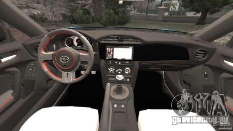 Scion FR-S для GTA 4 вид сзади