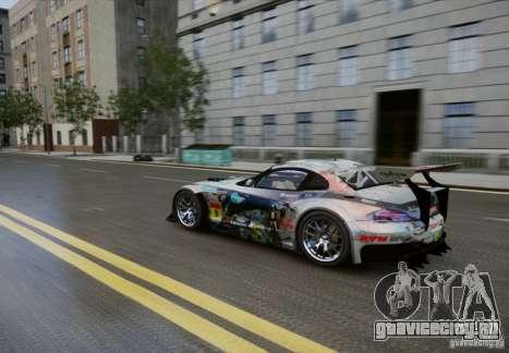 BMW Z4 GT3 2010 V.2.0 для GTA 4 вид изнутри