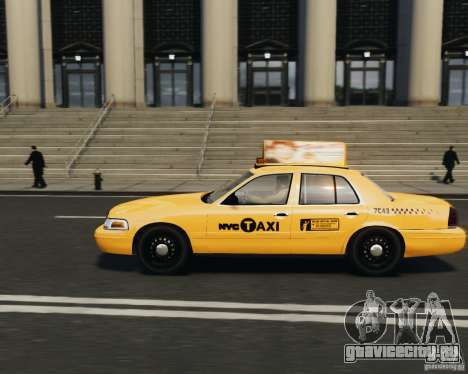 Ford Crown Victoria NYC Taxi 2012 для GTA 4 вид слева