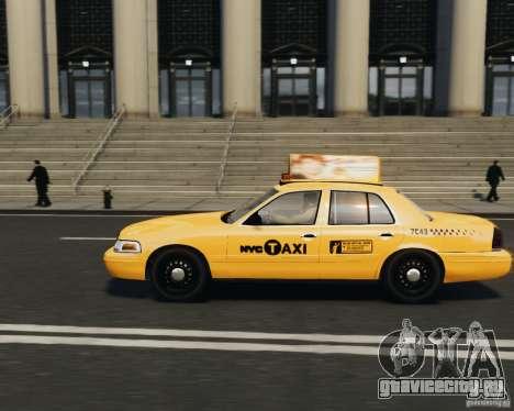 Ford Crown Victoria NYC Taxi 2012 для GTA 4 вид слева