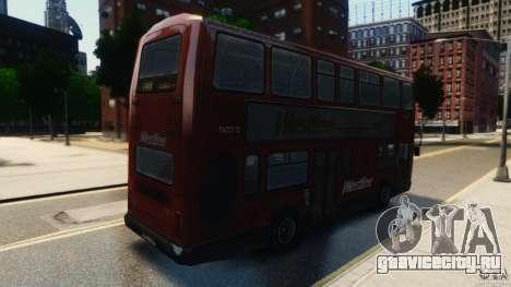 London City Bus для GTA 4 вид сзади слева