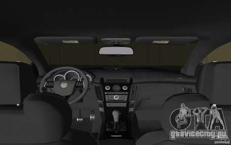 Cadillac CTS-V Coupe для GTA Vice City вид сбоку