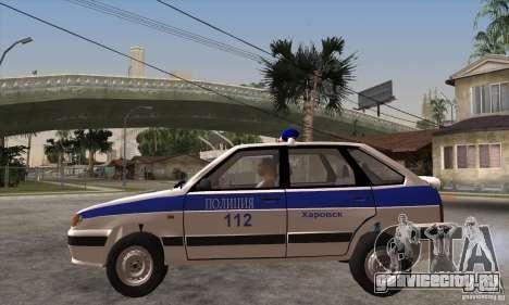 ВАЗ 2114 Полиция для GTA San Andreas вид слева
