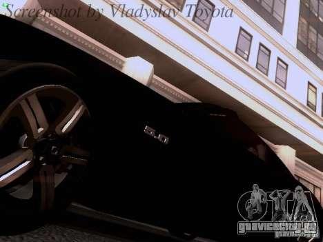 Ford Mustang GT 2011 Unmarked для GTA San Andreas вид изнутри