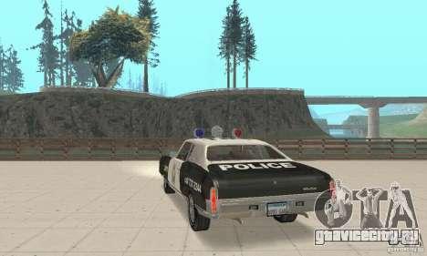 Chevrolet Monte Carlo 1970 Police для GTA San Andreas вид слева