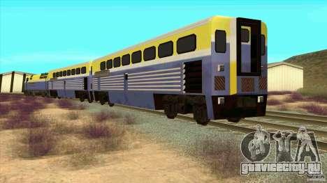 Latvian Train для GTA San Andreas вид сзади слева