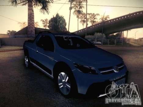Volkswagen Saveiro Cross для GTA San Andreas вид сзади