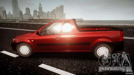 Dacia Logan Pick-up ELIA tuned для GTA 4 вид слева
