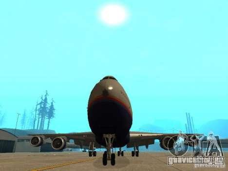Boeing 747-100 United Airlines для GTA San Andreas вид изнутри