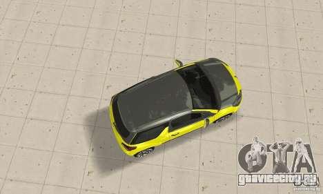 Citroen Ds3 Sport 2011 для GTA San Andreas вид сзади слева