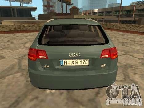 Audi S3 Sportback 2007 для GTA San Andreas вид справа