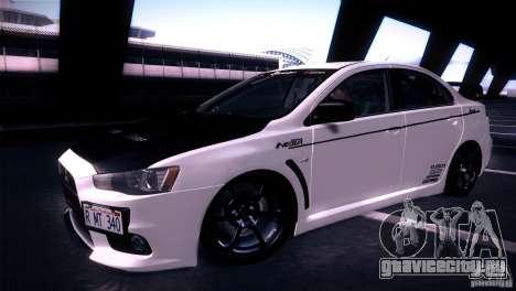 Mitsubishi Lancer Evolution X Tunable для GTA San Andreas вид справа