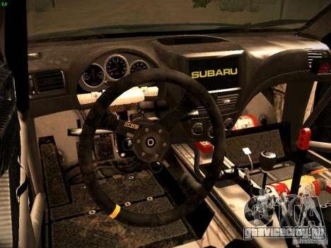 Subaru impreza Tarmac Rally для GTA San Andreas вид сзади