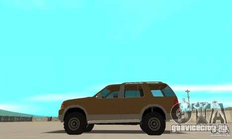 Ford Explorer 2002 для GTA San Andreas вид слева