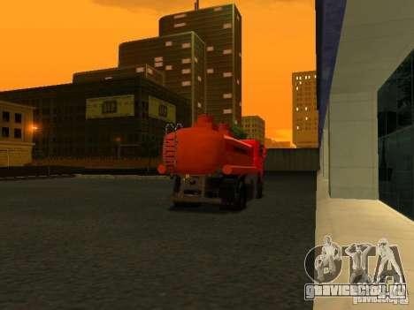 МАЗ Бензовоз для GTA San Andreas вид сзади слева