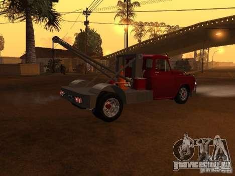 Dodge Towtruck для GTA San Andreas вид сзади слева