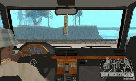 Mercedes-Benz G500 1999 v.1.1 без кенгурятника для GTA San Andreas вид изнутри