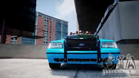 Ford Crown Victoria Classic Blue NYPD Scheme для GTA 4 вид снизу