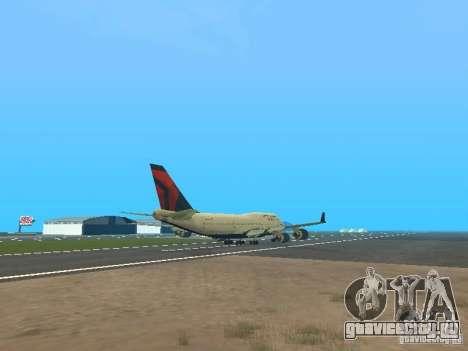 Boeing 747-400 Delta Airlines для GTA San Andreas вид справа