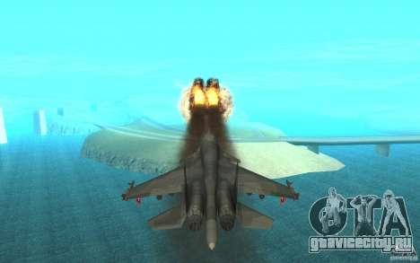 Су-34 для GTA San Andreas вид изнутри