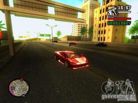 SSC Ultimate Aero для GTA San Andreas вид слева