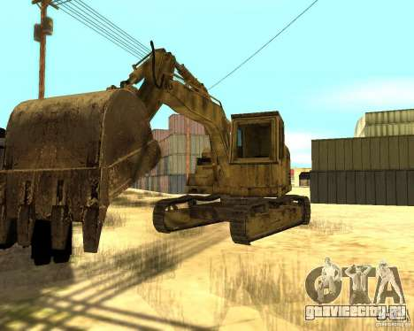 Экскаватор для GTA San Andreas вид сзади слева