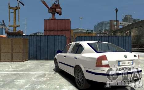 Skoda Octavia II 2005 для GTA 4 вид сзади слева