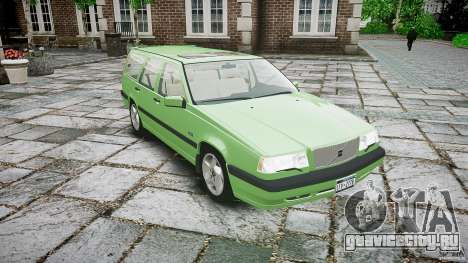 Volvo 850 Turbo 1996 для GTA 4 вид изнутри